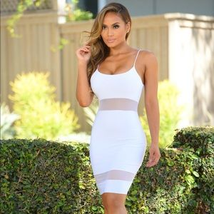 White Spaghetti Strap Dress - ONLY WORN ONCE